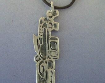 whale inuit eskimo pendant charm amulet sterling silver 925 necklace
