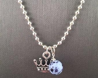 Bead n Crown Necklace