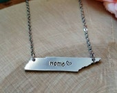 Tennessee necklace, home necklace, Tennessee jewelry, TN necklace, TN jewelry, Tennessee state necklace