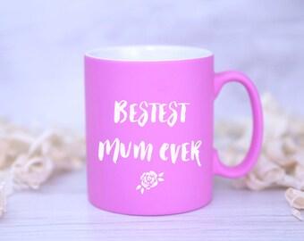 Bestest MUM Ever Satin Coated Mug - Mother's Day GIFT