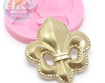 Fleur de Lis Mold 698m* PMC Clay Craft Jewelry diy Mould Cake Decoration Chocolate Mold Fondant Mold fimo BEST QUALITY