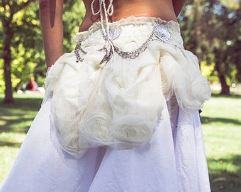 White Rose - handcrafted bustle by Hustle n Bustle