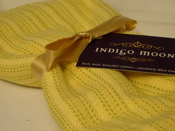 Handwoven Cotton Towel Yellow 100% Cotton Summer Yellow 22 x 32 inches
