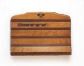 Unique 1950s Vintage Wooden Clutch Purse / Betty / Collectable