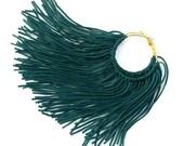 Emerald Fringe Hoops