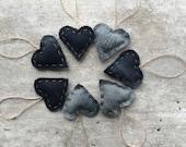 Denim Hearts, Valentines Hanging Hearts, Denim Decor, Baby Boy , Nursery Decor, Mens Cave, Love, Love Hearts, I Love You, Romantic Decor