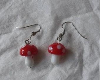 Fairies Red Toadstool earrings