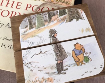 Upcycled Winnie the Pooh Wall Hanging