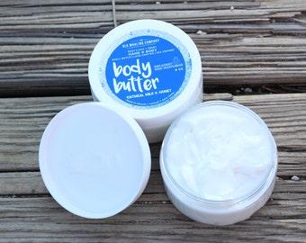 FREE SHIPPING // 4 pack // Whipped Shea Butter // Body Butter // Goats Milk // Honey //  Moisturizing // Sensitive Skin // Handmade
