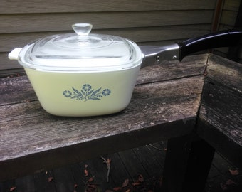 Vintage Corning Ware Covered Casserole Dish - 1 3/4 Quart Number P-1 3/4-B - Corning Casserole