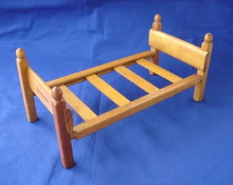 Strombecker Wooden Doll Bed