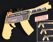 Rubber Band Machine Pistol - Wood Toy Gun - Rifle / Pistol - Hand-crafted in Alaska, USA
