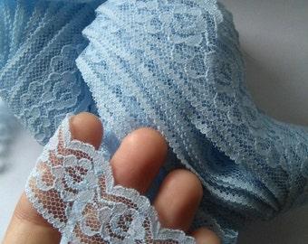 Vintage pale blue lace trim 2.5 yards