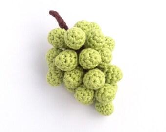Grapes / Fruit Decor Decorations Centrepiece / Fruit Bowl / Eco-friendly Organic Fruit / Crochet Food