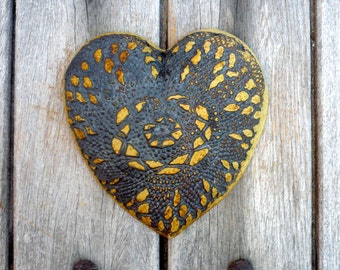 Rustic Heart , Wall Hanging  ,Rustic wedding , Hanging Heart
