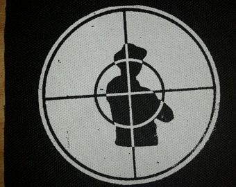 PUBLIC ENEMY PATCH - hip hop black canvas