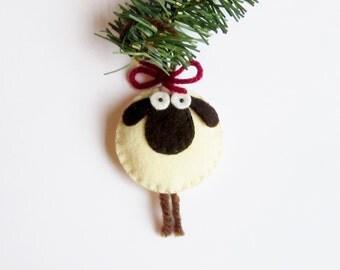 Giorgio the Sheep Ornament Felt