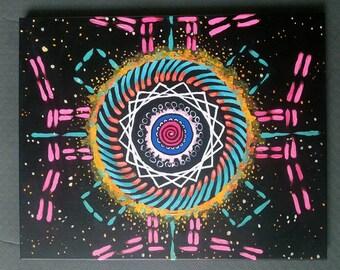 Energy Quantum Physics Mandala Inspired Original Painting