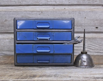 Vintage Industrial Metal Parts Bin