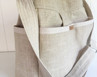 Gender Neutral ALL Linen Diaper Bag