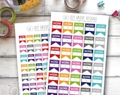 Work Tags, Set of 35 or 63 - Perfect for Erin Condren, Limelife, Mambi and Plum Paper Planners