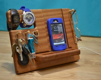 iPhone 6 PLUS Dock  iPhone 6 PLUS Stand Christmas Present,  Wooden iPhone Dock