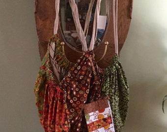 """Large tote - """"Loot Bag"""" - diaper bag, project bag, laundry bag ........"""