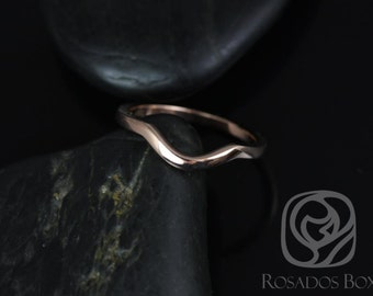14kt Rose Gold Matching Contour PLAIN Band to the Kasey 10x7mm Band (Other metals available)