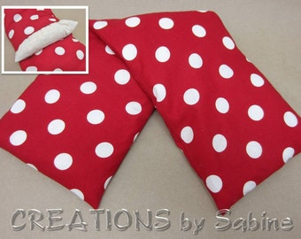 Heating Bag Washable Cover Microwaveable Corn Pillow Heat Therapy Cold Pack Red White Polka Dots 50s Rockabilly READY TO SHIP (414)