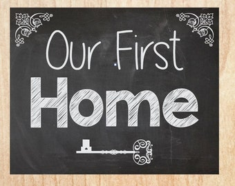 Our first home sign etsy for New home sign