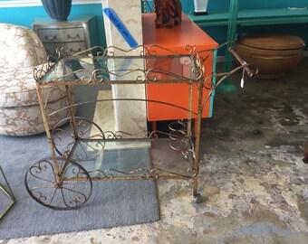 Gilt Italian bar cart