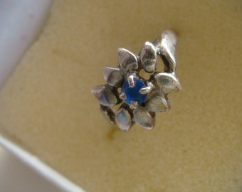 Gorgeous Flower with Blue Stone