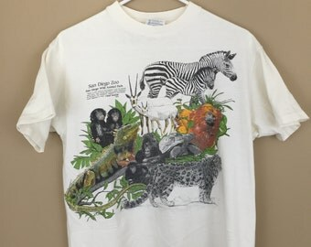 Vintage 1990s San Diego Zoo T-Shirt