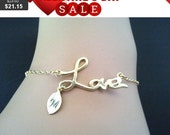 Love with PERSONALIZED Bracelet - graduation bracelet ,infinity love,Bangle,Chain, Charm, Friendship, Personalized Bracelet, Bridemaid Gift