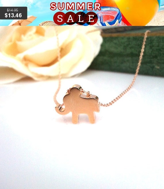 Tiny Elephant Pendant  necklace - Best Friend Gift, Birthday Gift - Lucky Charm