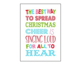 5x7 & 8x10 Buddy the Elf Christmas Cheer Quote Digital Download