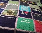 T-Shirt Quilt - King Size 110 x 96