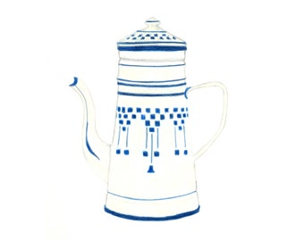 Vintage French Coffee Pot Cards