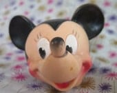 Walt Disney Prod., Dell, Edward Mobley, Minnie Mouse head, Rubber squeak toy