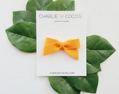 "SALE Baby / Girls Felt Bow Headband OR Hair Clip ""Mango"" -Premium Wool Felt Bow by charlie coco's"