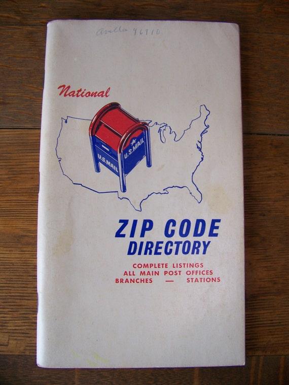 Book Cover Paper Zip Code ~ Vintage national zip code directory u s postal