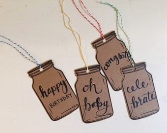 Assorted mason jar gift tags