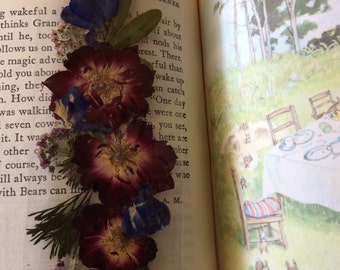 Laminated floral bookmark rose apricot blossoms pansies Three sizes --item number 5