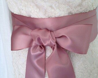 NEW-LOW PRICE-Wedding Sash-Wedding Belt-Bridal Belt-Bridal Sash-cummerbunds-Satin sash-Satin belt-belt-Pink-Mauve-Rose-Ivory-White Sash-Navy