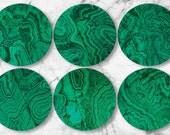 CUSTOM ORDER for JDB, Malachite, original melamine plates