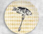 Eat Fish melamine plate