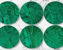 Malachite, original melamine plate