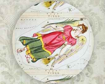 Virgo constellation melamine plate