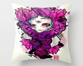 Art Pillow case, indoor pillow case, throw pillow case, pillow cover, accent pillow, decorative pillow