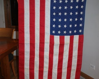 Rare Vintage 48 Star American Flag Made In The Good Old USA